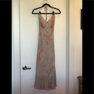 Calypso St. Barth Silk Beaded Halter dress, Size M